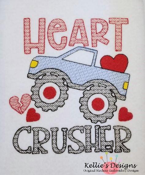 Heart Crusher 5x7