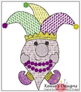 Mardi Gras Gnome 4x4