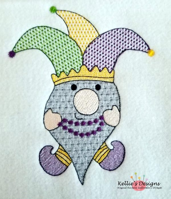 Mardi Gras Gnome 5x7